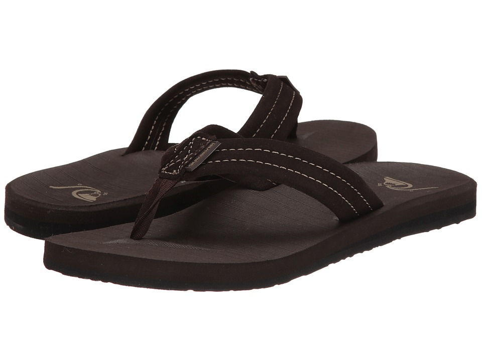 Quiksilver - Carver Suede (Demitasse - Solid) Men's Sandals