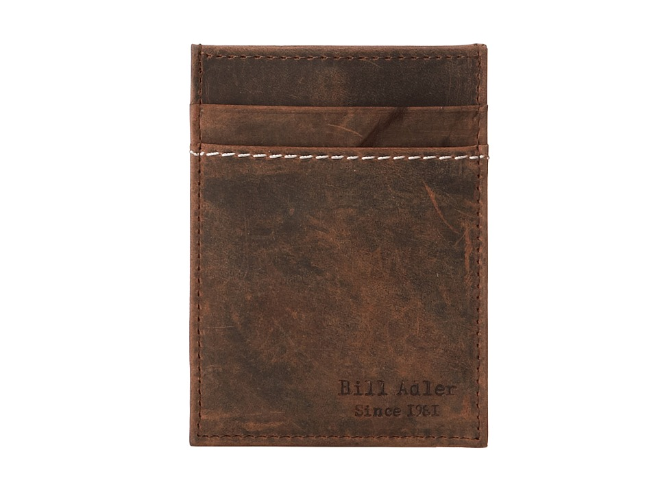 Image of Bill Adler 1981 - Crazyhorse Front Pocket Wallet (Brown) Bill-fold Wallet
