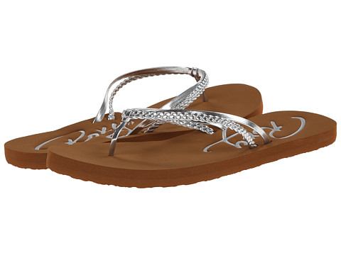 Roxy - Cabo (Silver) Women's Sandals