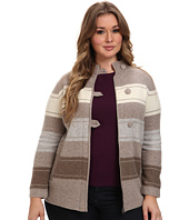 Pendleton - Plus Size Alpine Stripe Boiled Wool Cardigan