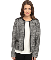 NYDJ Petite - Petite Metallic Leather Tweed Jacket