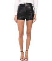 LOVE Moschino - Leather Zip Front Shorts
