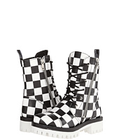LOVE Moschino - Checker Print Combat Boot