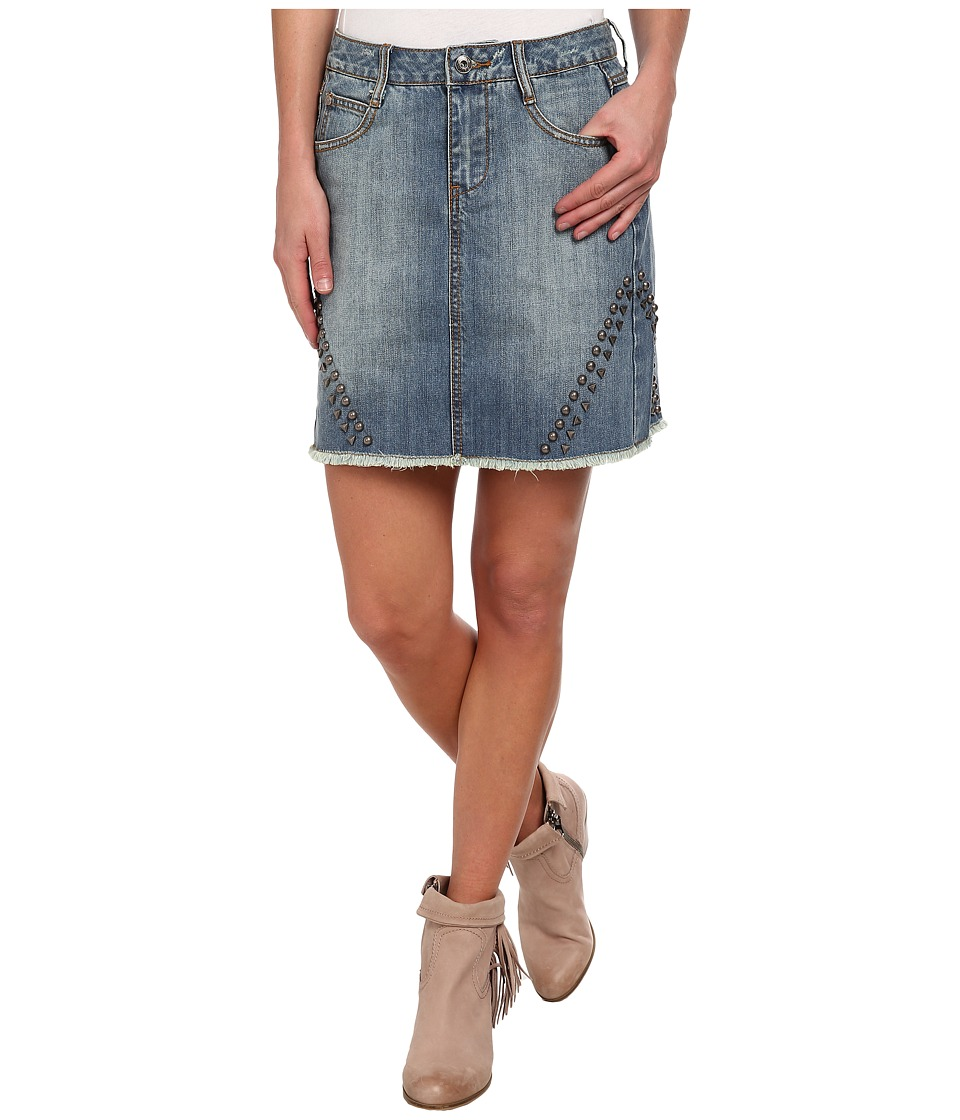 Stetson Jean Skirt w/ Studs On Sides (Blue) Women's Skirt