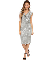 Vince Camuto - One-Piece Silver Metallic Cowl Neck Dress