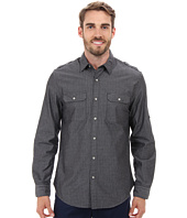 DKNY Jeans - Long Sleeve Roll Tab Geo Dobby Shirt