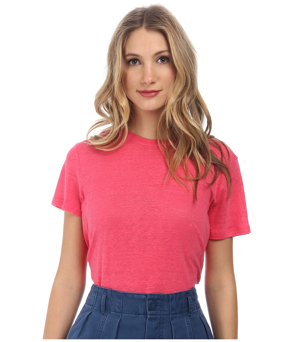 Marc by Marc Jacobs Carmen Jersey Short Sleeve Top Pretty Bright Pink Womens T Shirt