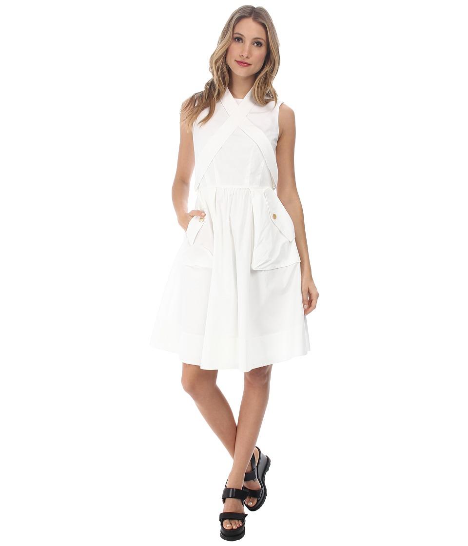 Marc by Marc Jacobs Hailee Washed Poplin Dress Wicken White Womens Dress