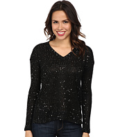 Mod-o-doc - Sequin Sweater Knit V-Neck Pullover