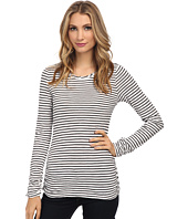 Mod-o-doc - Slub Jersey Stripe Long Sleeve Twisted Collar Tee