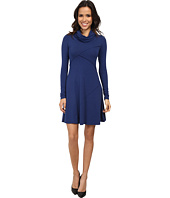 Mod-o-doc - Cotton Modal Spandex Jersey Slouchy Cowl Neck Seam Dress