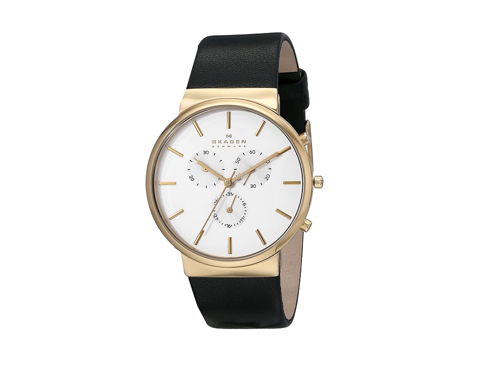Skagen Ancher Leather Chronograph Black 2 Analog Watches