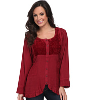 Scully - Honey Creek Eva Velvet Front Blouse