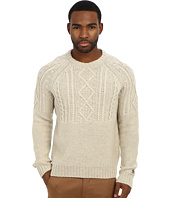 Original Penguin - L/S Raglan Crew Neck w/ Engineered Cable Pattern On Front
