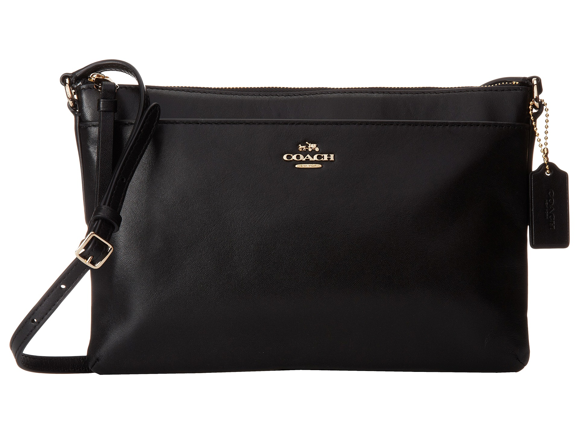 coach smooth leather eastwest swingpack lightblack