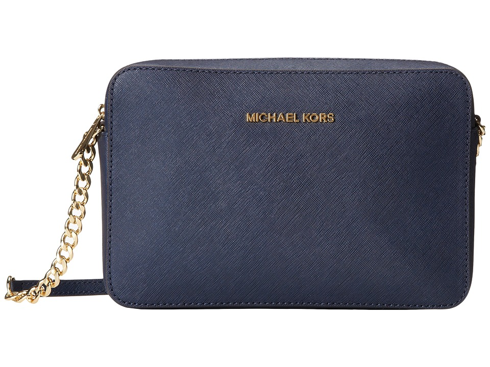 MICHAEL Michael Kors - Jet Set Travel LG Ew Crossbody (Navy) Cross Body Handbags