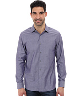Perry Ellis - Long Sleeve Slim Fit Jacquard Shirt