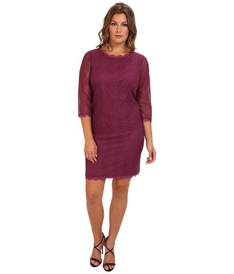 Adrianna Papell - Plus Size Flirty Ruffle Hem Skirt (Mauve) - Apparel