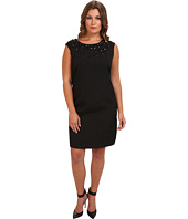 Adrianna Papell - Plus Size Necklace Beaded Sheath Dress