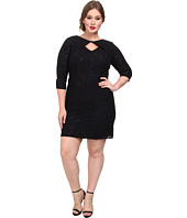 Adrianna Papell - Plus Size Lace Origami Neckline Dress