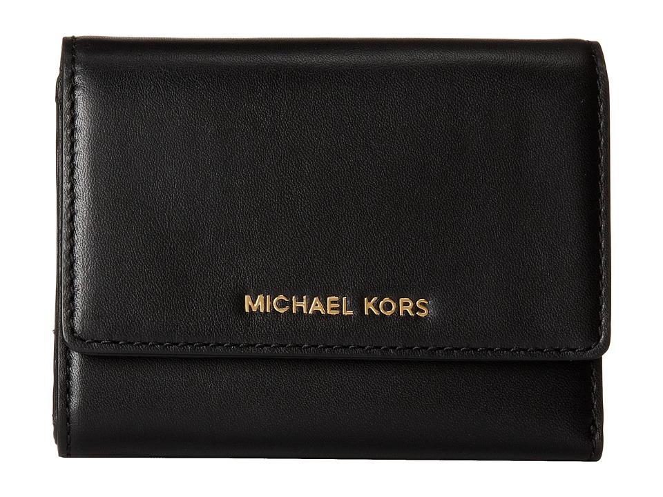 MICHAEL Michael Kors - Colby Medium Trifold (Black) Bi-fold Wallet