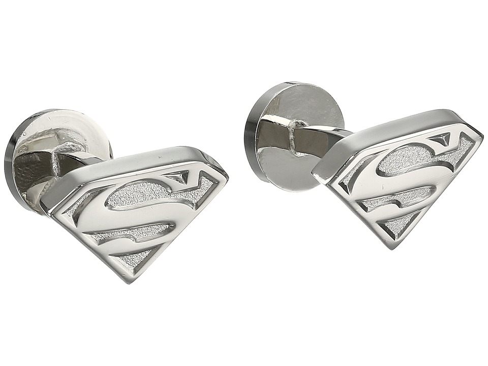 Cufflinks Inc. - Silver Superman Shield Cufflinks (Silver) Cuff Links