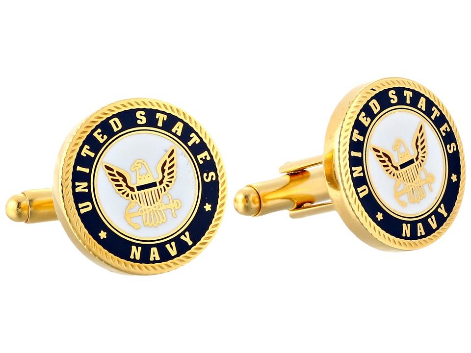 Cufflinks Inc. - Enamel US Navy Cufflinks (Blue) Cuff Links