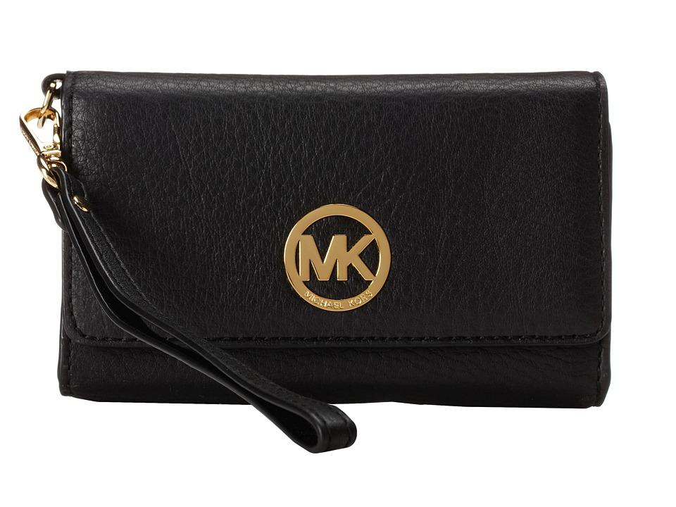 MICHAEL Michael Kors - Fulton Large Multi Funt Wristlet (Black) Wristlet Handbags