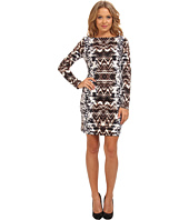 Vince Camuto - 3/4 Sleeve Printed Ponte T-Body Dress