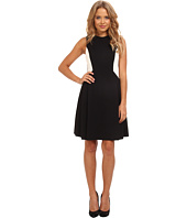 Vince Camuto - Sleeveless Ponte Fit & Flare Dress w/ Racer Stripe Detail