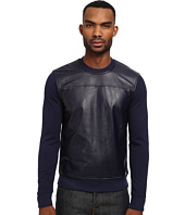 Michael Kors - Leather Front Crew Sweatshirt