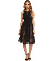Maggy London - Sleeveless Box Mesh Cocktail Party Dress