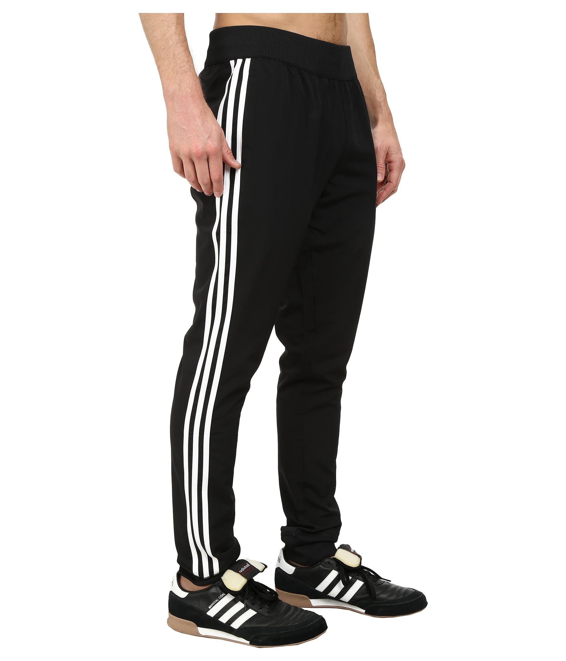 skinny fit adidas track pants