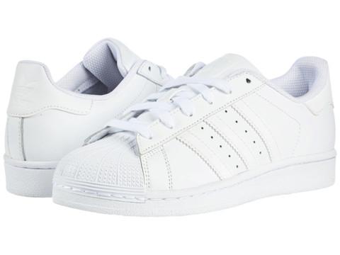 adidas Originals Kids Superstar - Foundation (Big Kid) - White/White/White