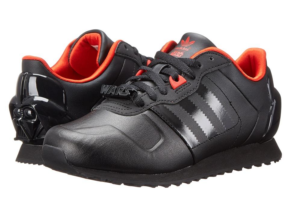 adidas Originals Kids - ZX 700 Darth Vader (Little Kid/Big Kid) (Black/Black/Red) Boys Shoes