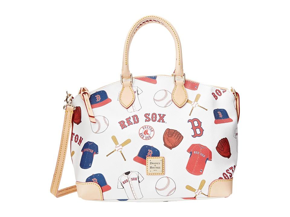 Dooney & Bourke - MLB Satchel (Red Sox/White) Satchel Handbags