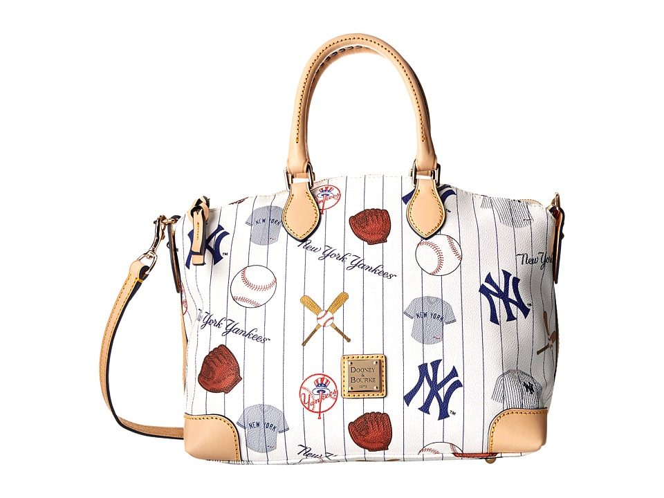 Dooney & Bourke - MLB Satchel (Yankees/White) Satchel Handbags