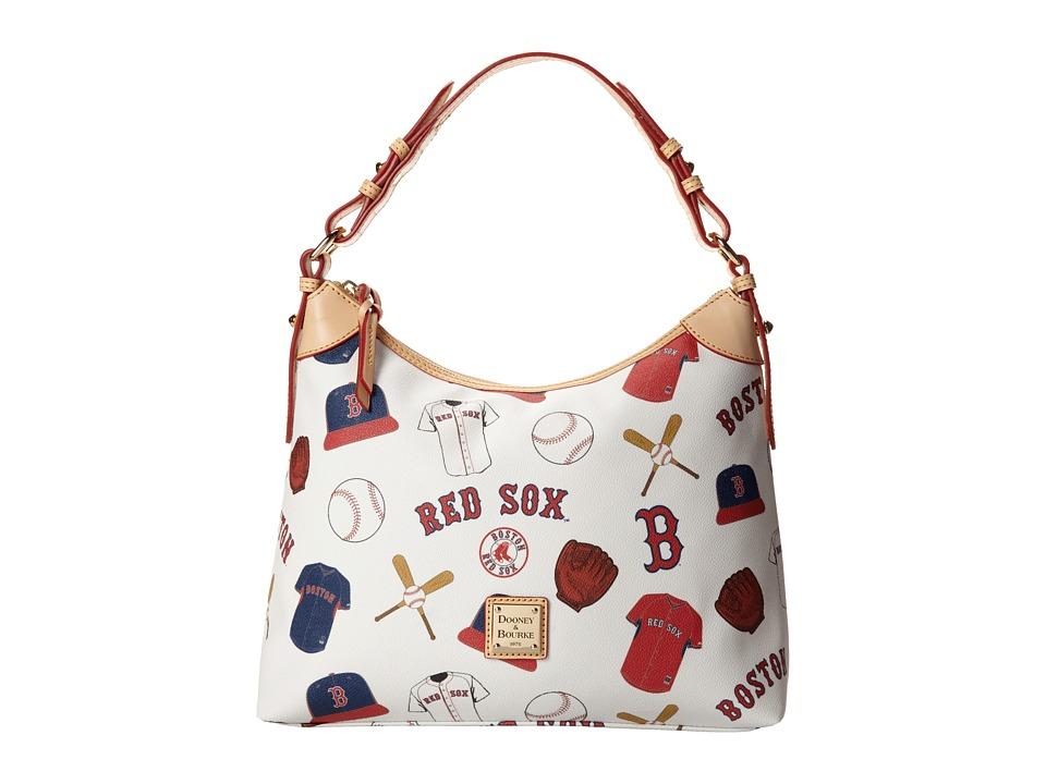 Dooney amp Bourke MLB Hobo Red Sox/White Hobo Handbags