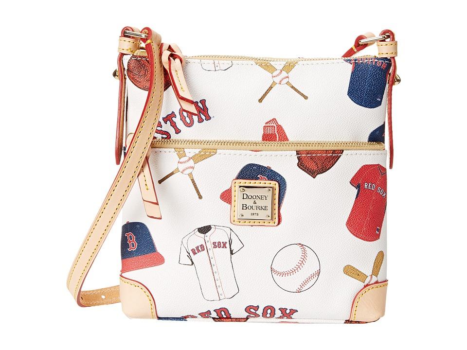 Dooney amp Bourke MLB Letter Carrier Red Sox/White Cross Body Handbags
