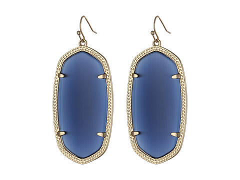 Kendra Scott Danielle Earrings - Gold/Navy Cats Eye