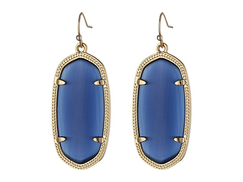 Kendra Scott Elle Earring - Gold/Navy Cats Eye