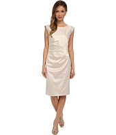 Vince Camuto - Satin Dress with Rhinestone Shoulder Cap