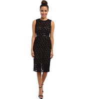 Vince Camuto - Embroidered Lace Dress w/ Illusion Top & Hem
