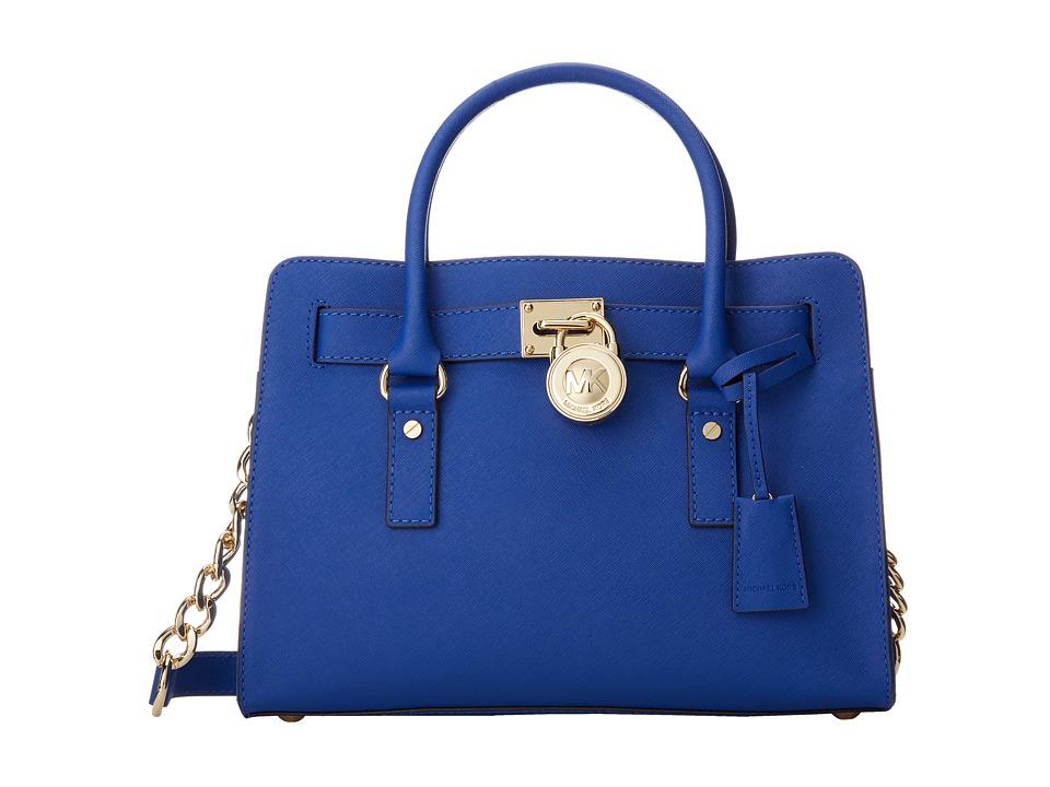 MICHAEL Michael Kors Hamilton 18K East/West Satchel (Elctric Blue) Satchel Handbags