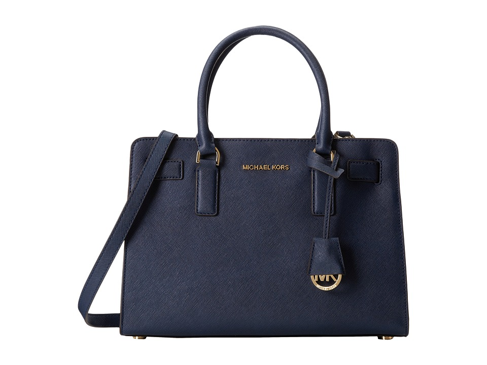 MICHAEL Michael Kors - Dillon East/West Satchel (Navy) Satchel Handbags