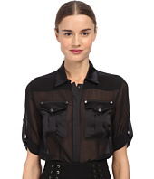 Pierre Balmain - Sheer Button Up Blouse