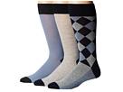 Cole Haan Woven Leg Argyle Crew 3-Pack (Blue Blazer)