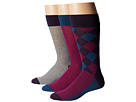 Cole Haan Woven Leg Argyle Crew 3-Pack (Nightshade)