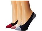 Cole Haan Ombre Dot Liner 3-Pack w/ Gel Heel (Assorted)