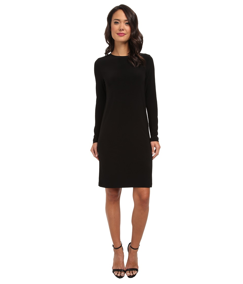 KAMALIKULTURE by Norma Kamali - Go Long Sleeve Crew Neck Dress